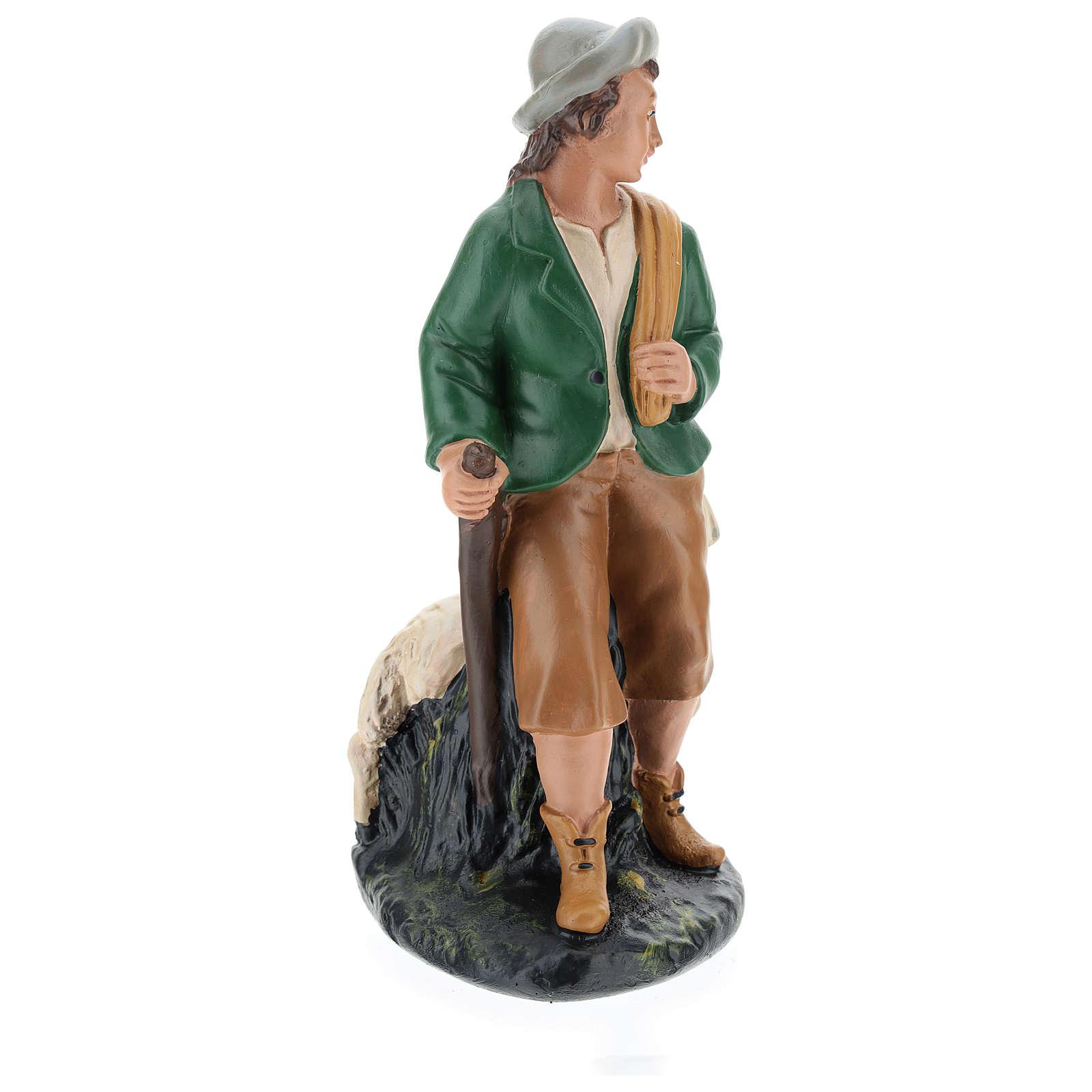 Statua pastore con pecore gesso 20 cm Arte Barsanti 4