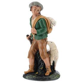 Statua pastore con pecore gesso 20 cm Arte Barsanti s1