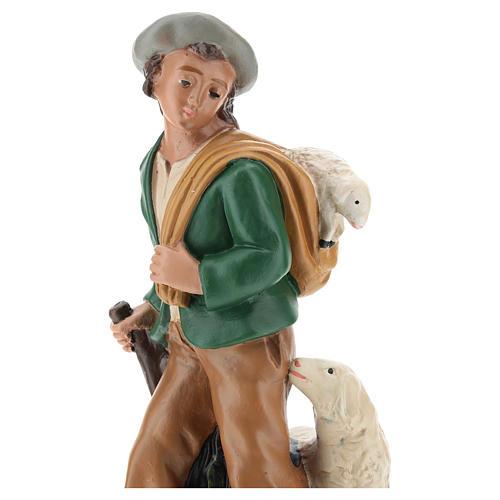 Statua pastore con pecore gesso 20 cm Arte Barsanti 2