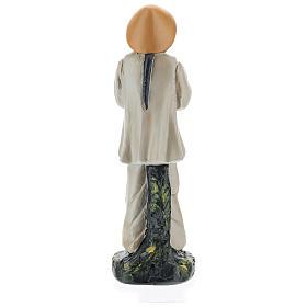 Statua pastore cinese con fiori gesso colorato 20 cm Arte Barsanti s5
