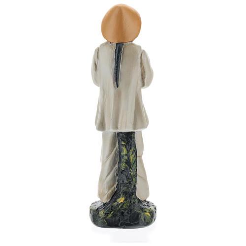 Statua pastore cinese con fiori gesso colorato 20 cm Arte Barsanti 5