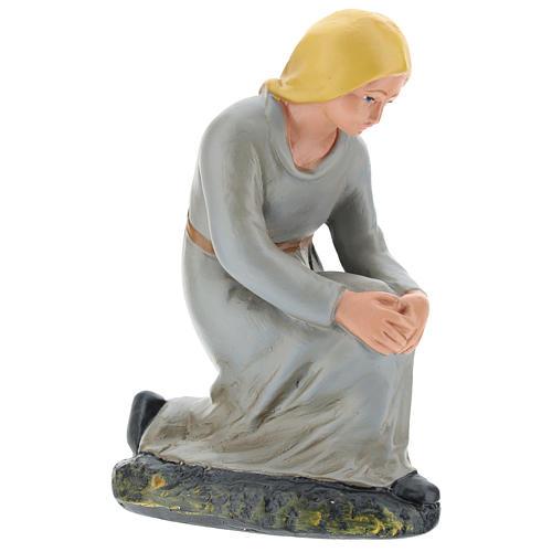 Estatua pastora de rodillas yeso 20 cm Arte Barsanti 4