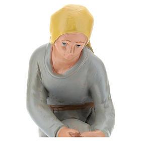 Statua pastorella in ginocchio gesso 20 cm Arte Barsanti s2