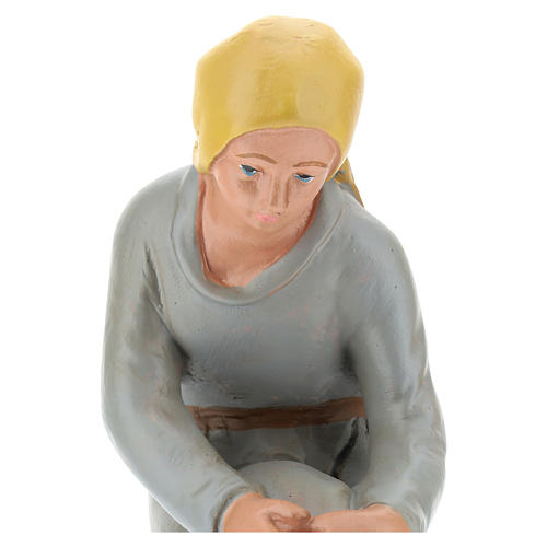 Statua pastorella in ginocchio gesso 20 cm Arte Barsanti 2