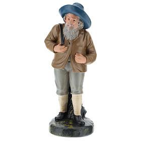 Estatua pastor con sombrero y saco 20 cm Arte Barsanti s1