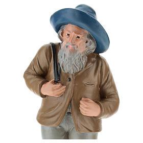 Estatua pastor con sombrero y saco 20 cm Arte Barsanti s2