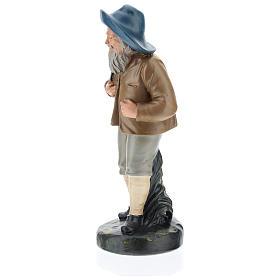 Estatua pastor con sombrero y saco 20 cm Arte Barsanti s3