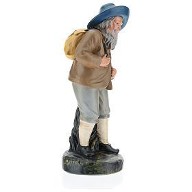 Estatua pastor con sombrero y saco 20 cm Arte Barsanti s4