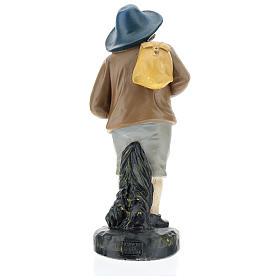 Estatua pastor con sombrero y saco 20 cm Arte Barsanti s5