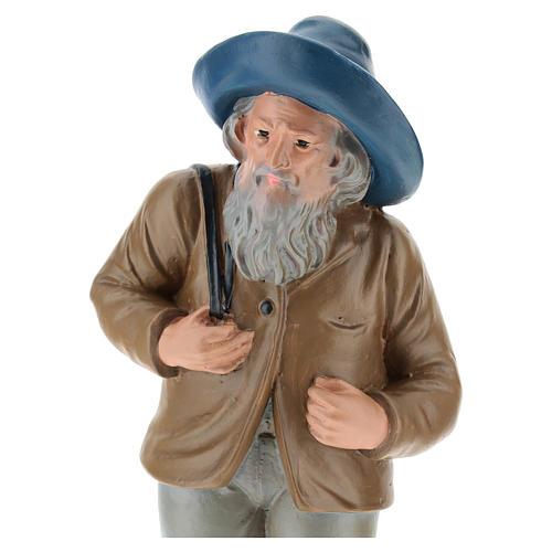 Estatua pastor con sombrero y saco 20 cm Arte Barsanti 2