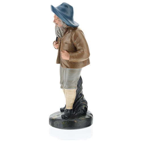 Estatua pastor con sombrero y saco 20 cm Arte Barsanti 3
