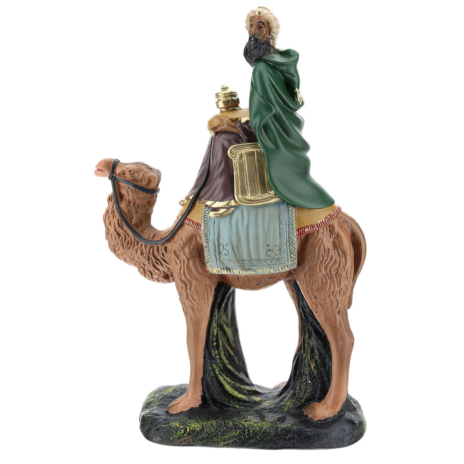 Roi Mage mulâtre sur chameau crèche Arte Barsanti plâtre 20 cm 4