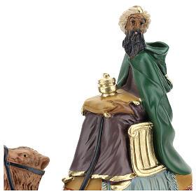 Roi Mage mulâtre sur chameau crèche Arte Barsanti plâtre 20 cm s2
