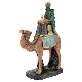 Roi Mage mulâtre sur chameau crèche Arte Barsanti plâtre 20 cm s3