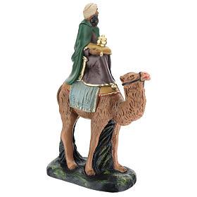Roi Mage mulâtre sur chameau crèche Arte Barsanti plâtre 20 cm s4