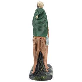 Roi Mage mulâtre sur chameau crèche Arte Barsanti plâtre 20 cm s5