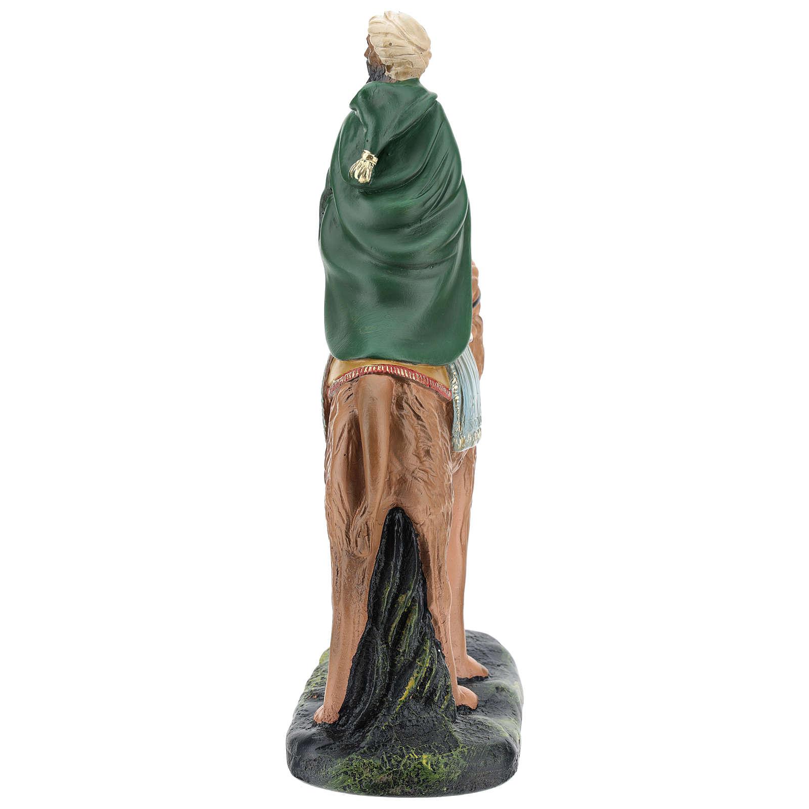 Re Magio mulatto su cammello presepe Arte Barsanti 20 cm 4