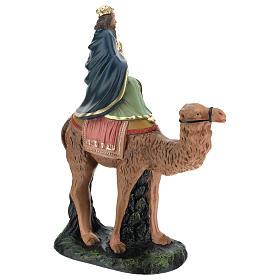 Roi Mage blanc sur chameau crèche Arte Barsanti plâtre 20 cm s4