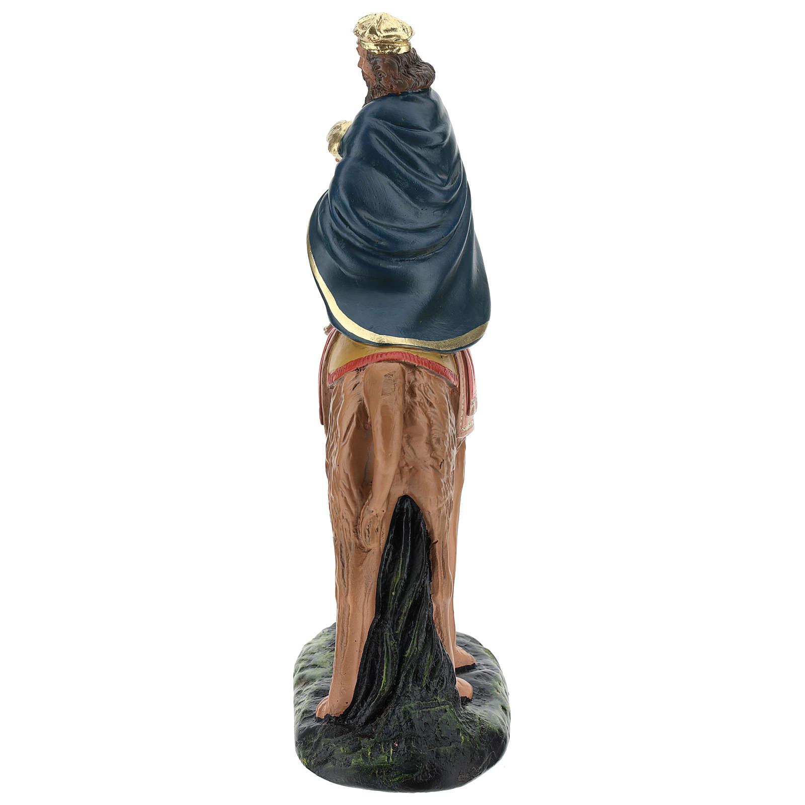 Re Magio su cammello Melchiorre gesso Arte Barsanti 20 cm 4