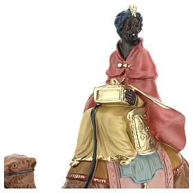 Roi Mage noir sur chameau crèche Arte Barsanti plâtre 20 cm s2
