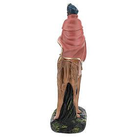 Roi Mage noir sur chameau crèche Arte Barsanti plâtre 20 cm s5