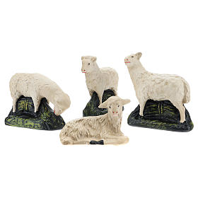 Set Arte Barsanti 4 ovejas yeso para belén 20 cm s1