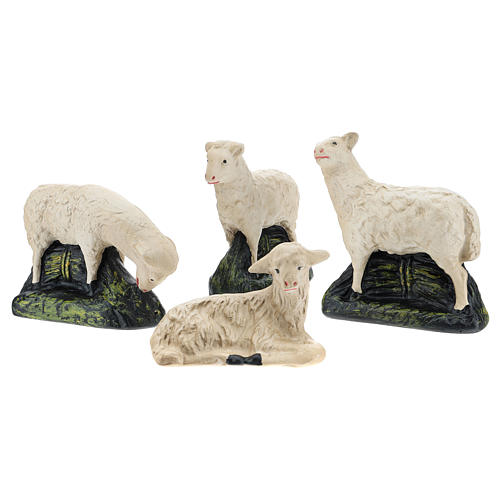 Set Arte Barsanti 4 ovejas yeso para belén 20 cm 1