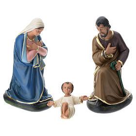 Nativity in plaster for Arte Barsanti Nativity Scene 30 cm s1