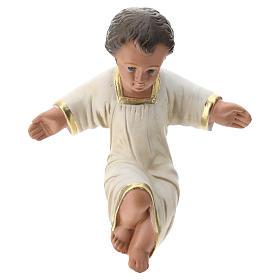 Niño Jesús yeso pintado a mano para belenes Arte Barsanti 30 cm s1