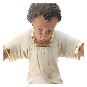 Enfant Jésus plâtre peint à la main 30 cm Arte Barsanti s2