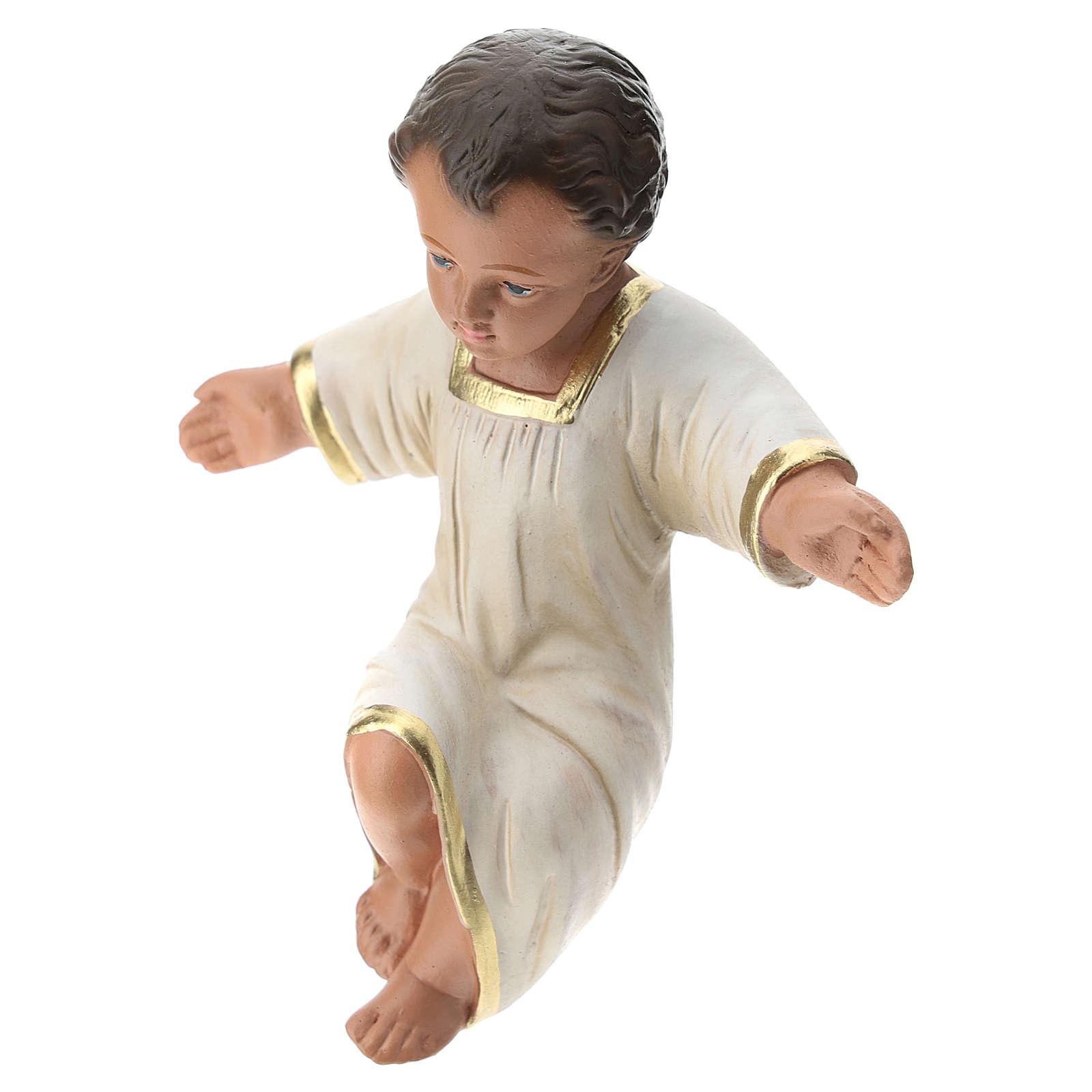 Gesù Bambino gesso dipinto a mano per presepi Arte Barsanti 30 cm 4