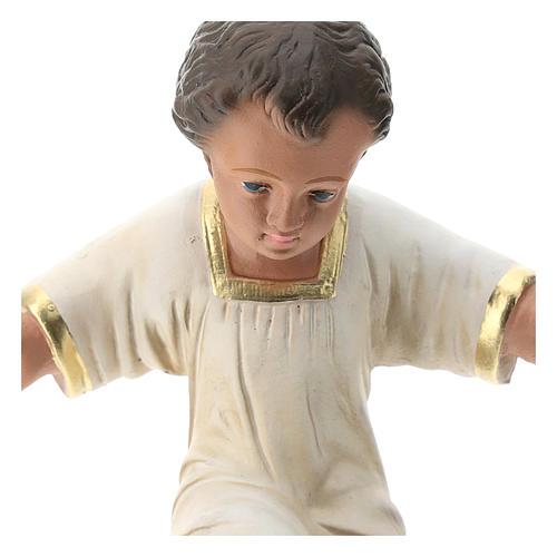 Gesù Bambino gesso dipinto a mano per presepi Arte Barsanti 30 cm 2