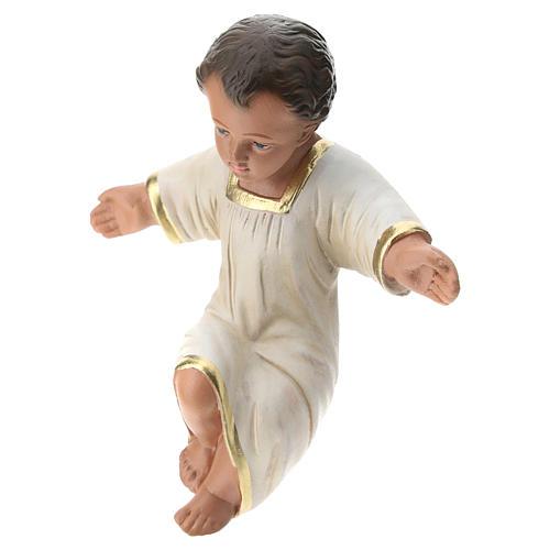 Gesù Bambino gesso dipinto a mano per presepi Arte Barsanti 30 cm 3