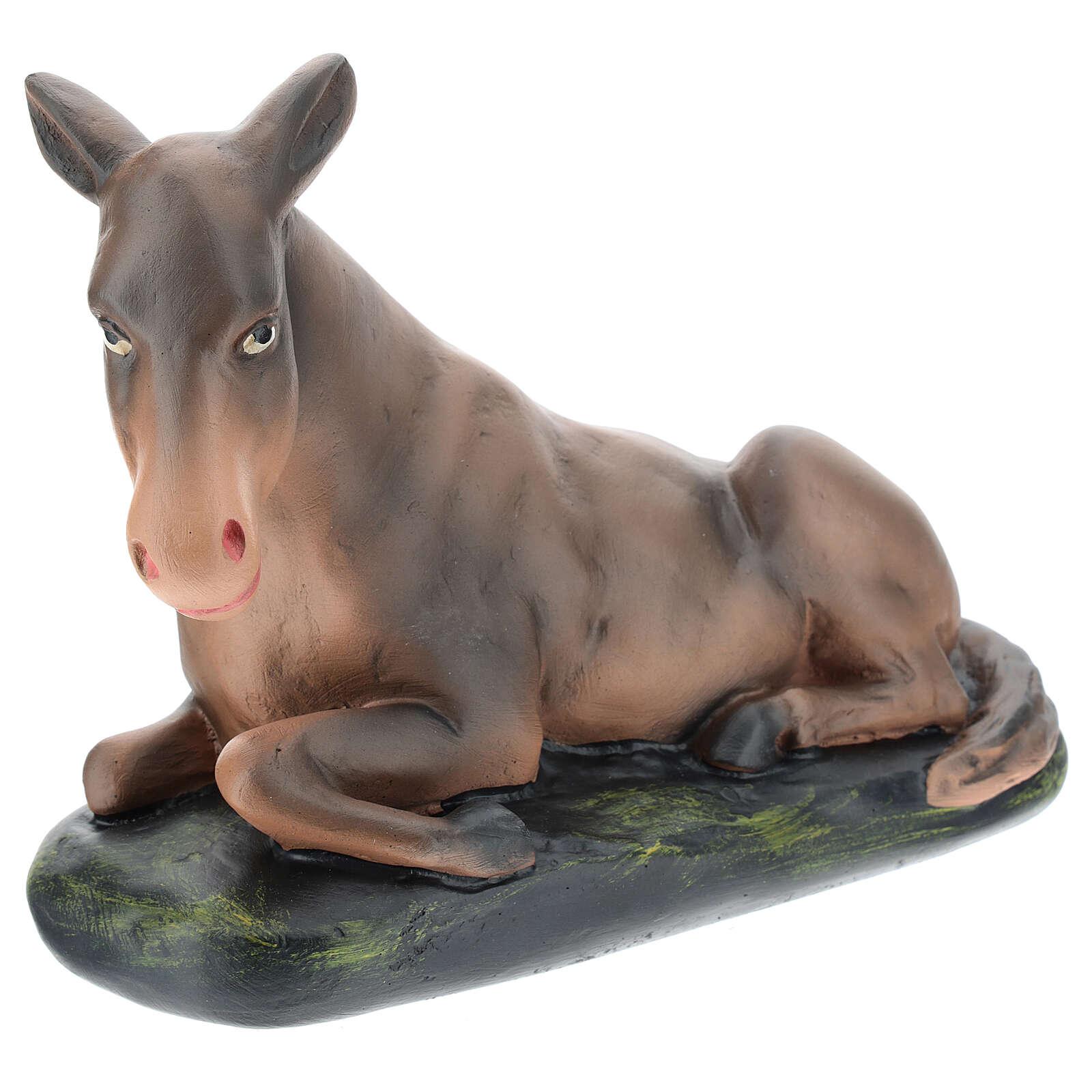 Donkey in plaster for Arte Barsanti Nativity Scene 30 cm 4