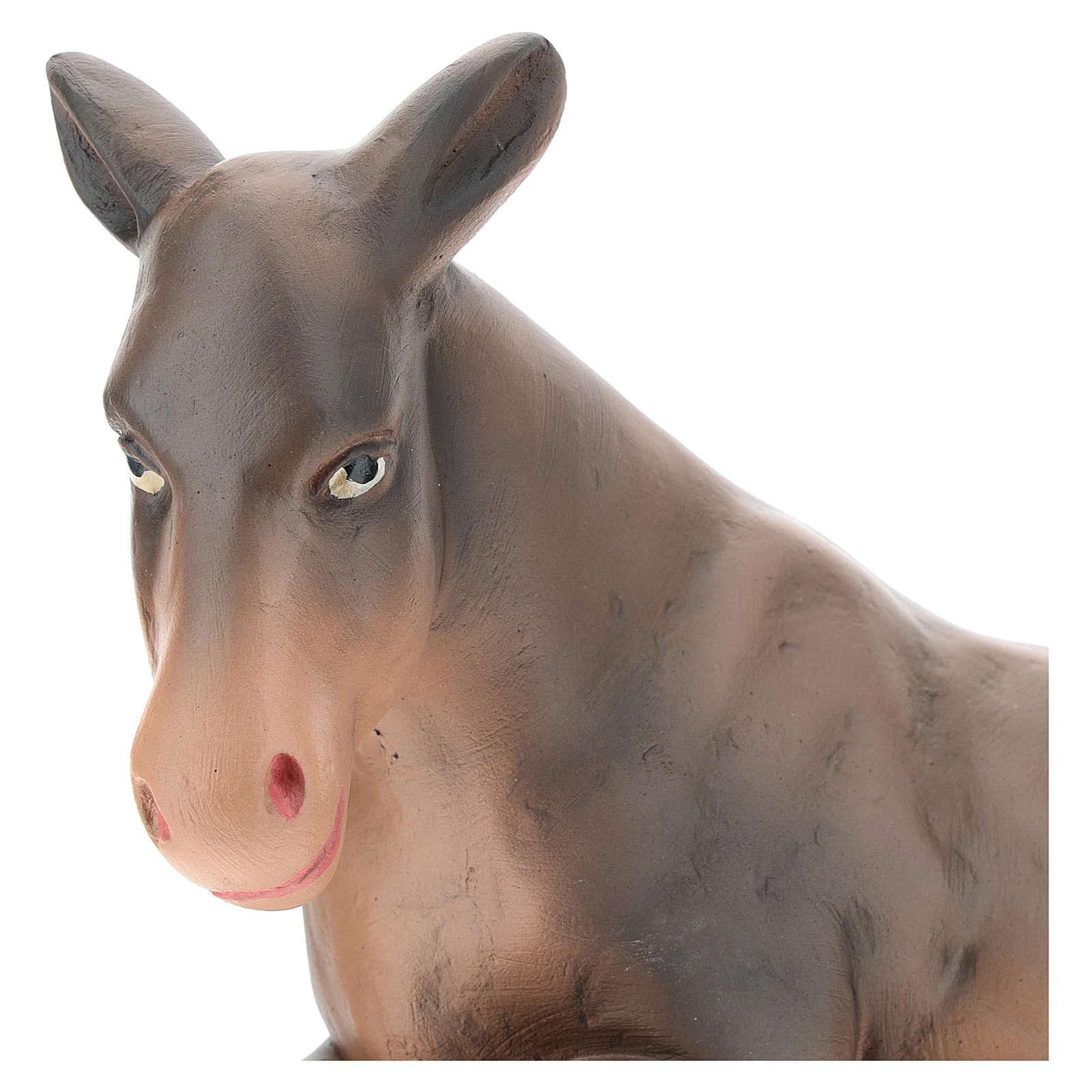 Santon âne plâtre peint à la main 30 cm Arte Barsanti 4