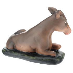 Santon âne plâtre peint à la main 30 cm Arte Barsanti s4