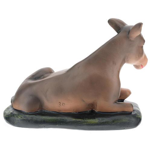 Santon âne plâtre peint à la main 30 cm Arte Barsanti 5