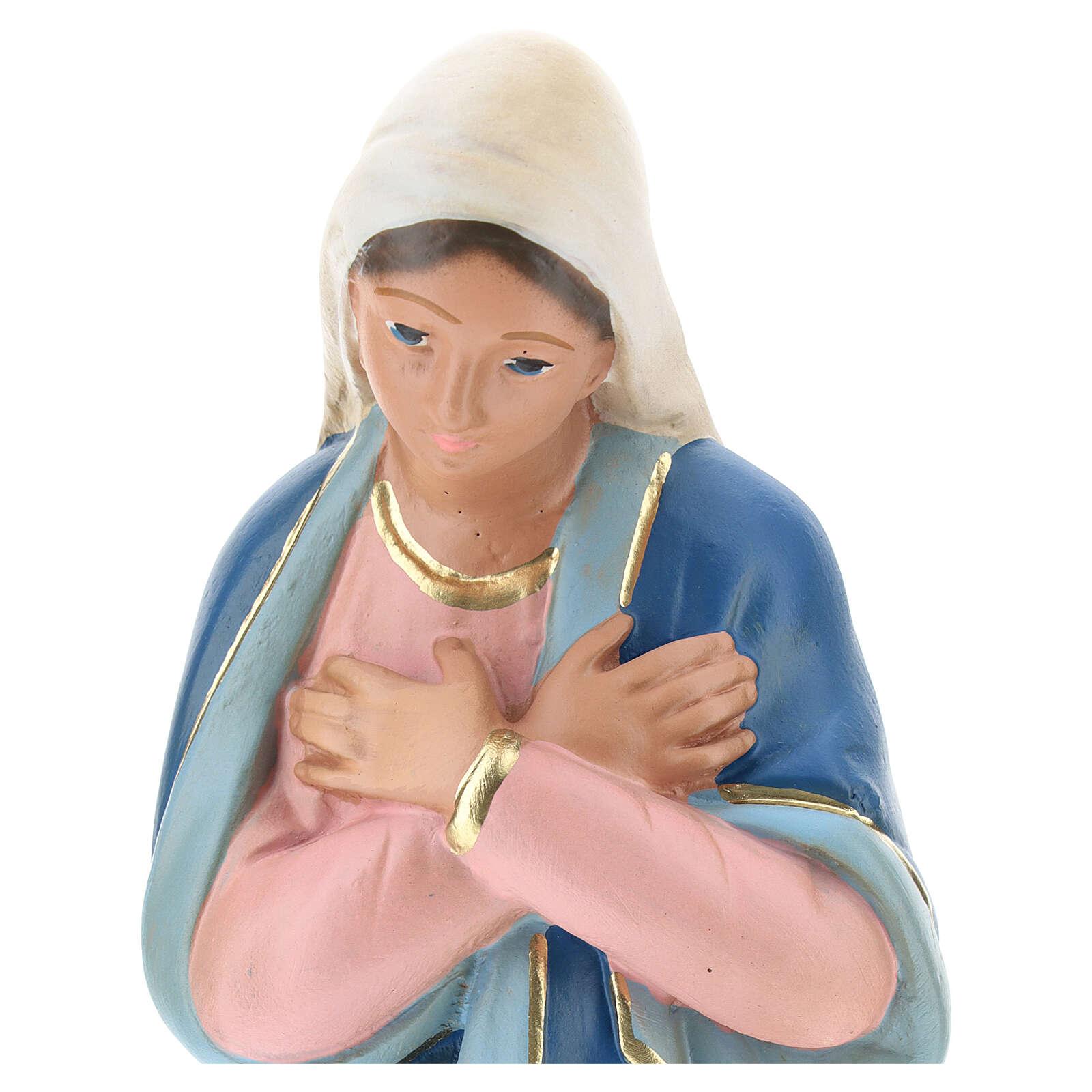 Virgin Mary in plaster for Arte Barsanti Nativity Scene 30 cm 4