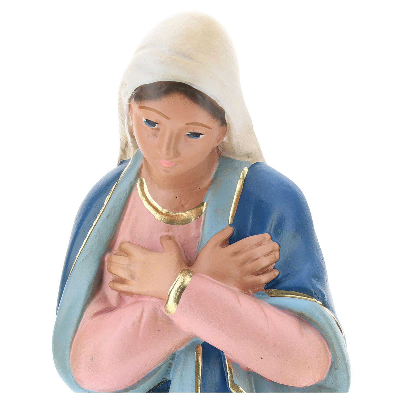Virgen yeso pintado a mano para belén 30 cm Arte Barsanti 4