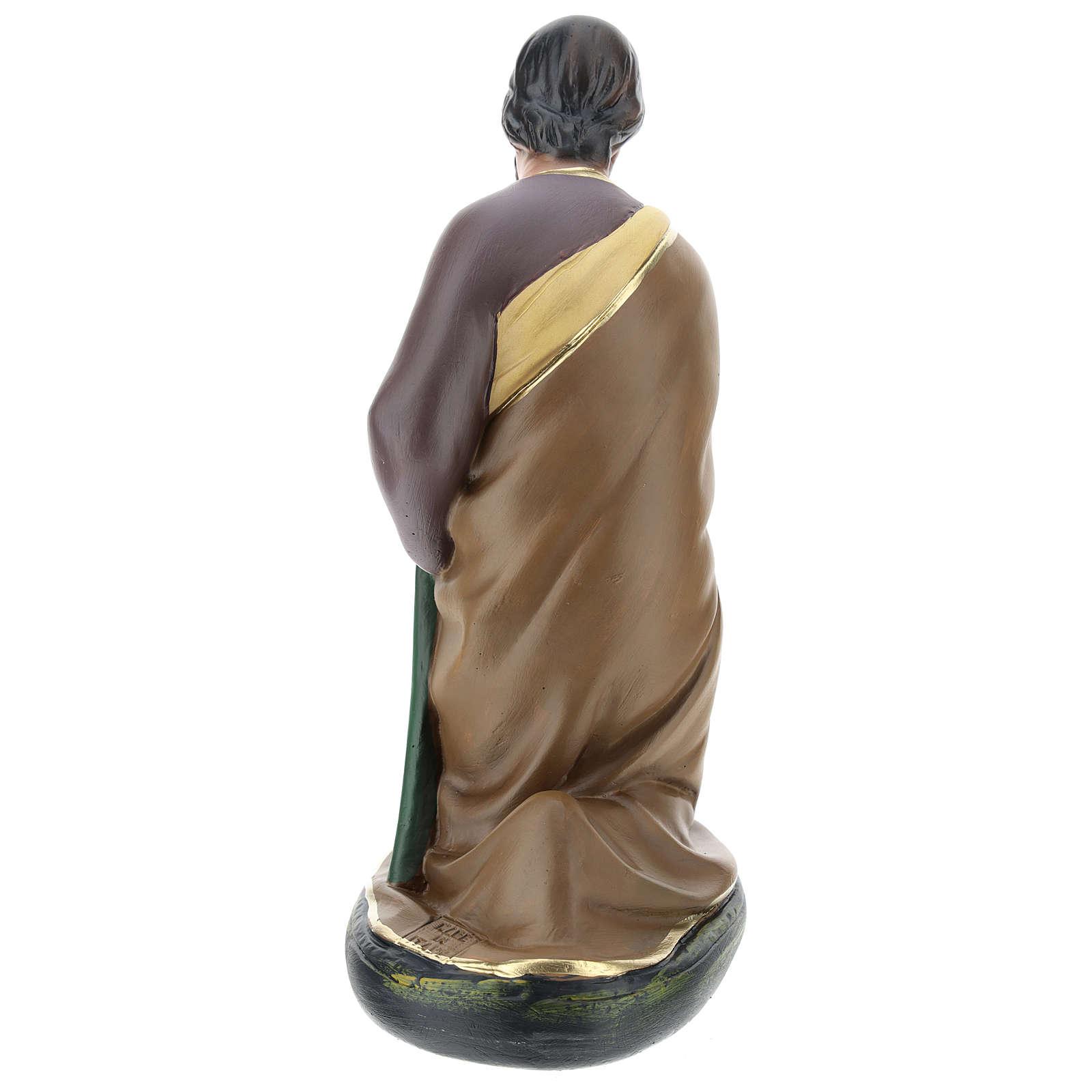 San Giuseppe dipinto a mano per presepi Arte Barsanti 30 cm 4
