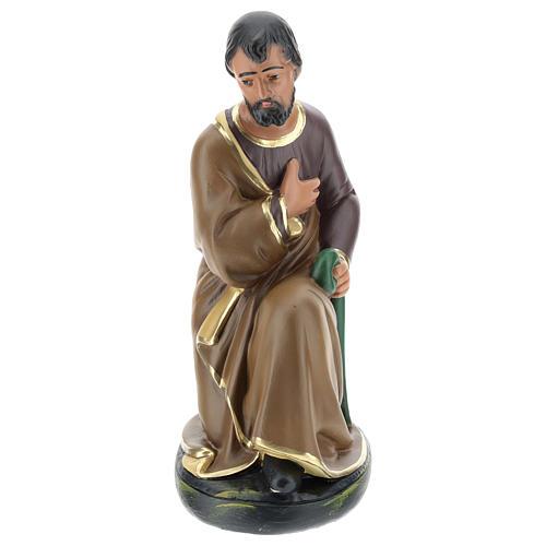 San Giuseppe dipinto a mano per presepi Arte Barsanti 30 cm 1