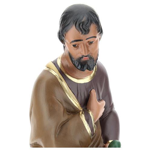 San Giuseppe dipinto a mano per presepi Arte Barsanti 30 cm 2