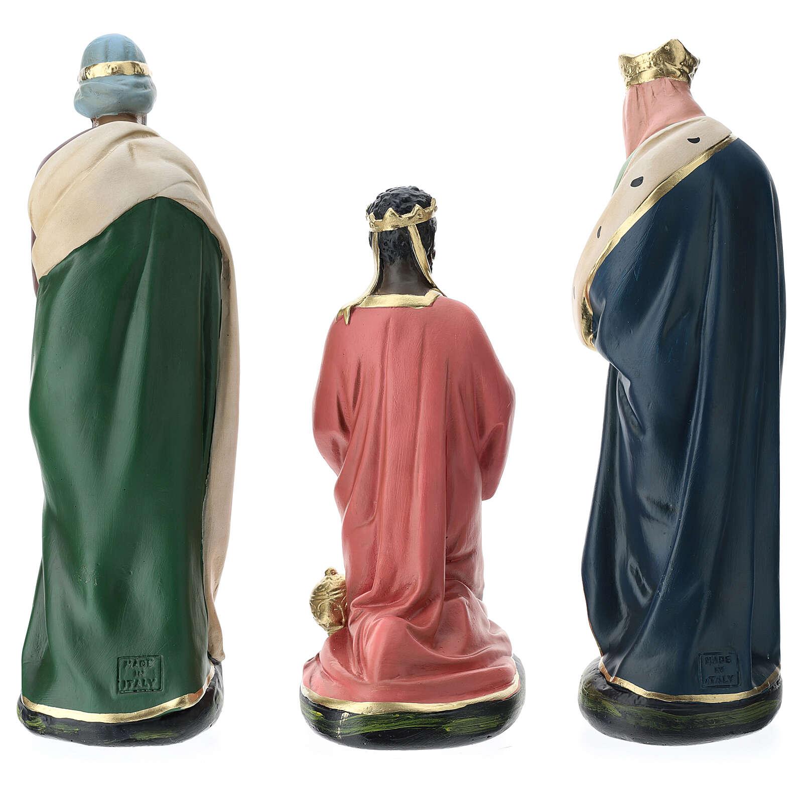 Three Wise Men in plaster for Arte Barsanti Nativity Scene 30 cm 4