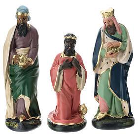 Three Wise Men in plaster for Arte Barsanti Nativity Scene 30 cm s1
