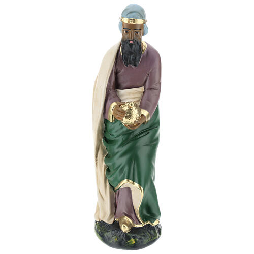 Wise Man Jasper in plaster for Arte Barsanti Nativity Scene 30 cm 1