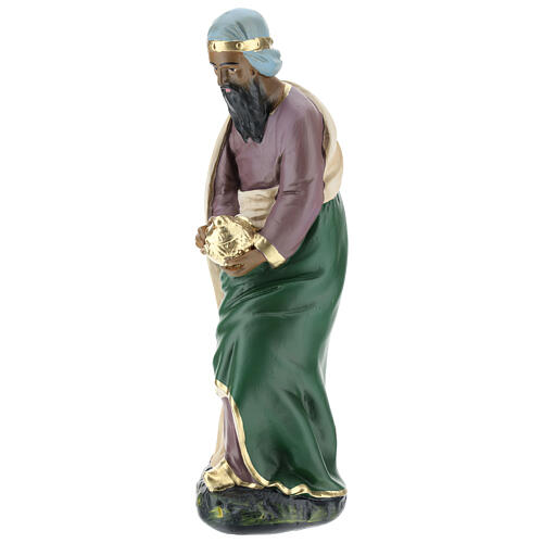 Wise Man Jasper in plaster for Arte Barsanti Nativity Scene 30 cm 3