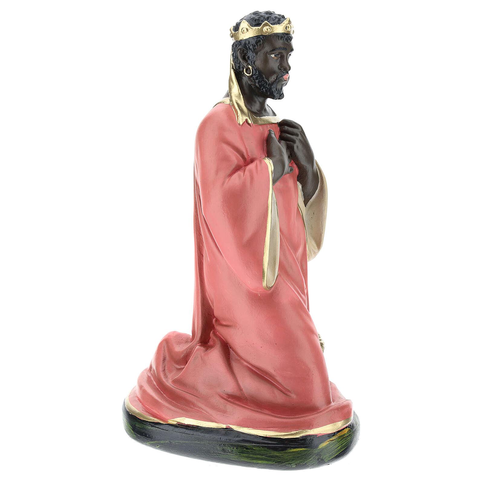 Wise Man Balthazar in plaster for Arte Barsanti Nativity Scene 30 cm 4