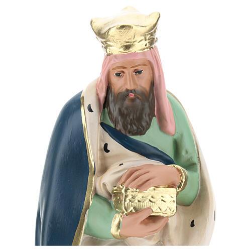 Wise Man Melchior in plaster for Arte Barsanti Nativity Scene 30 cm 2
