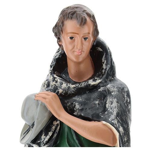 Pastor con capa yeso 30 cm Arte Barsanti 2