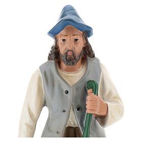 Pastor con linterna y bastón 30 cm Arte Barsanti s2